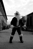 Santa in an alley